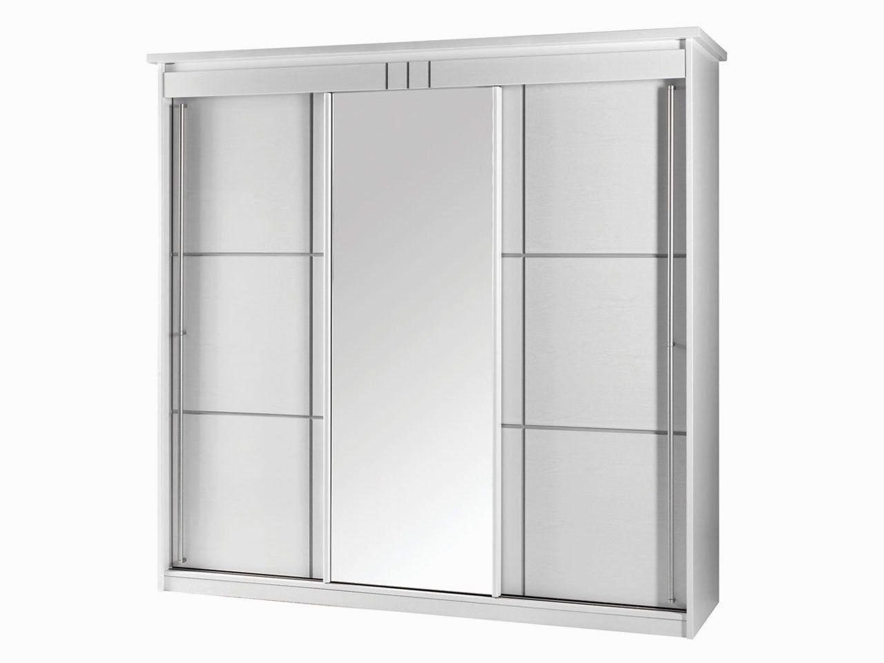 Armoire Blanche Porte Coulissante Miroir