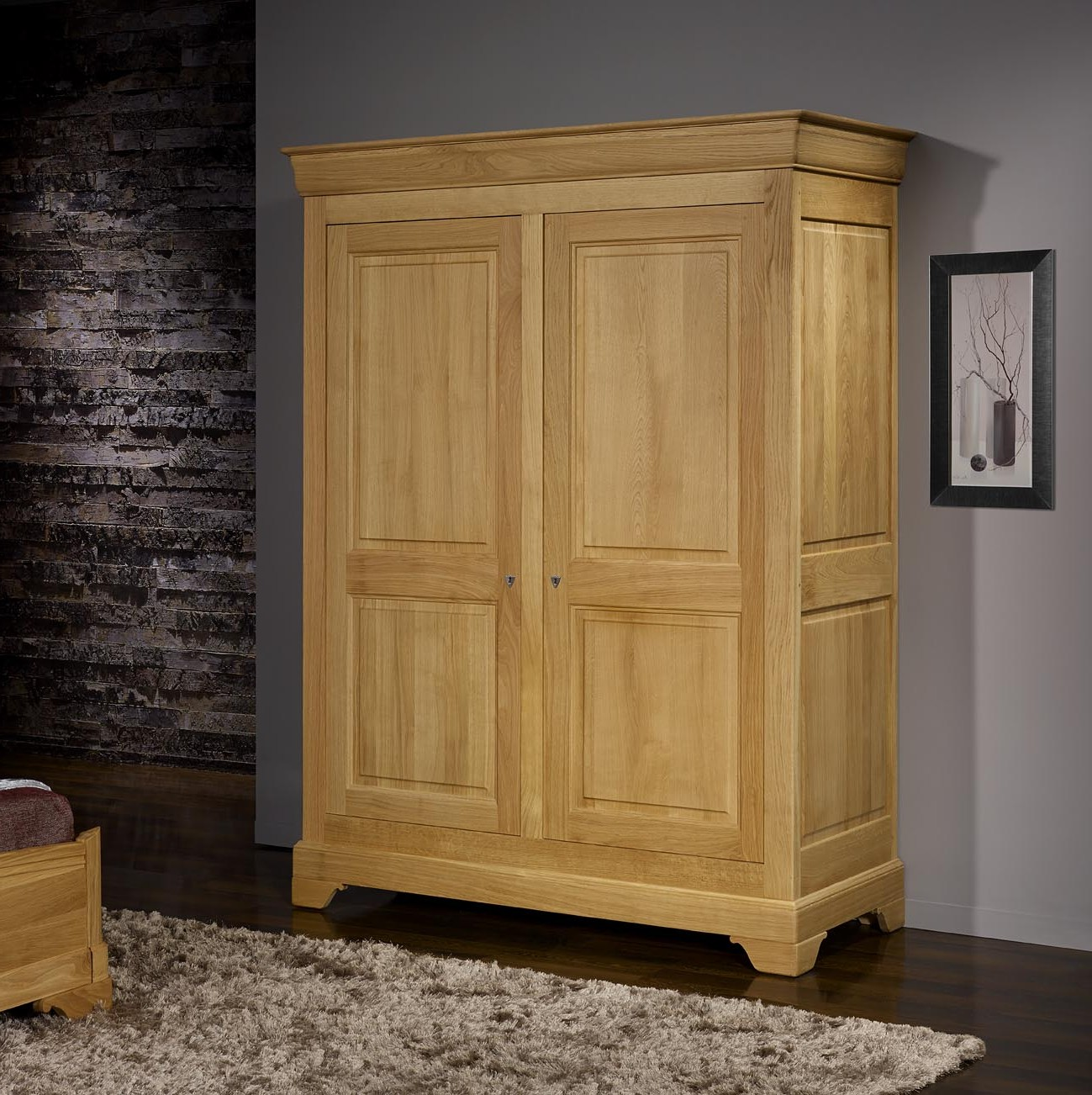 armoire bois brut portes coulissantes armoire id es de. Black Bedroom Furniture Sets. Home Design Ideas