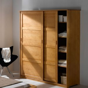 fly armoire porte coulissante amazing armoire chambre noir pas cher nice decors incroyable. Black Bedroom Furniture Sets. Home Design Ideas