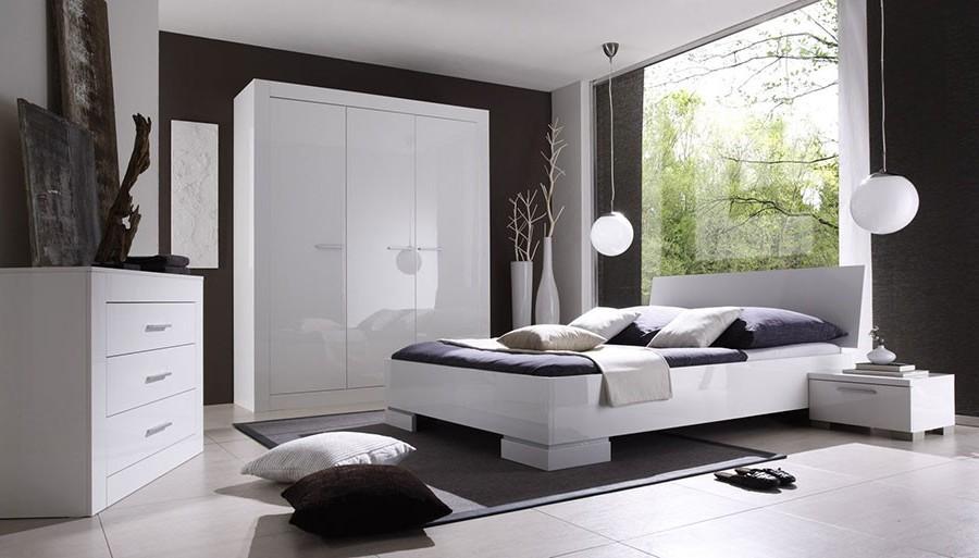 Meuble chambre blanc laqu beautiful charmant salle a for Chambre a coucher blanc laque brillant