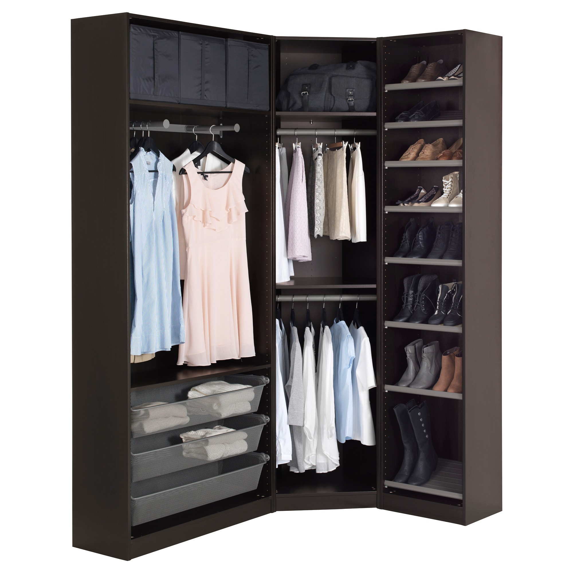 Dressing d angle ikea perfect armoire vetement ikea for Armoire dressing but