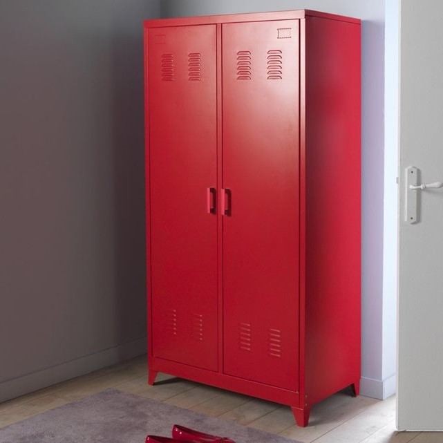 Armoire Metallique Rouge But