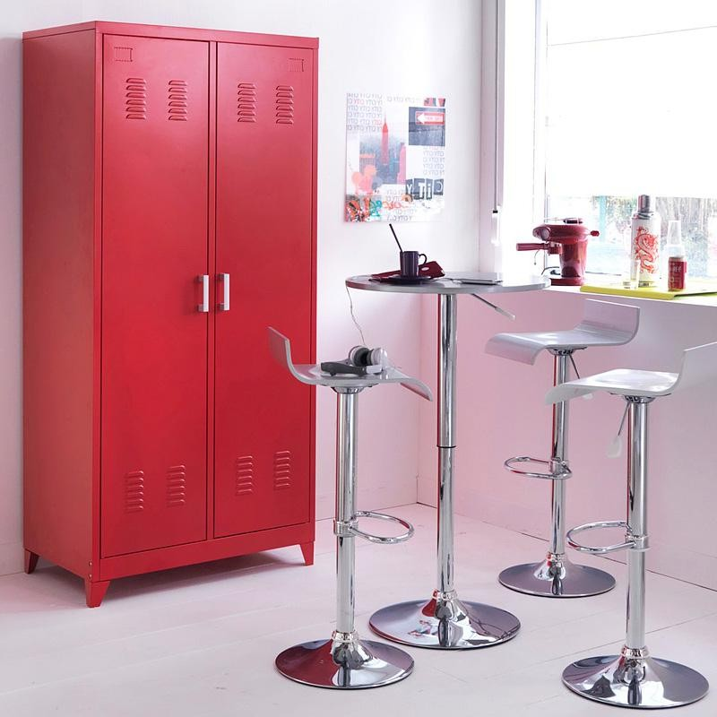 armoire metallique rouge la redoute armoire id es de d coration de maison d6lexglnbp. Black Bedroom Furniture Sets. Home Design Ideas