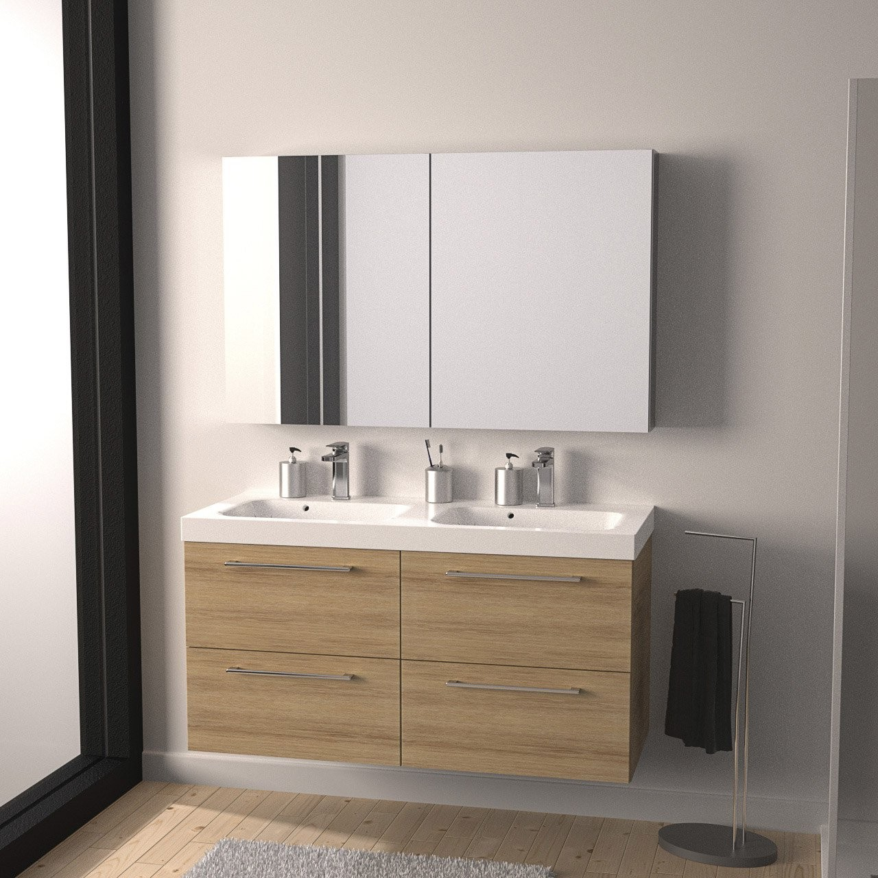 miroir pour armoire gallery of armoire de toilette. Black Bedroom Furniture Sets. Home Design Ideas