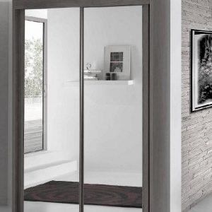 Armoire portes coulissantes miroir 120 armoire id es de d coration de mai - Armoire penderie miroir ...