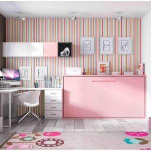 Armoire lit escamotable bureau armoire id es de d coration de maison dol - Bureau escamotable mural ...