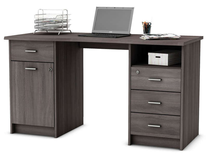 Pc de bureau conforama bureau style industriel foldesk for Meuble bureau ordinateur fixe