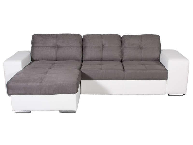 Canapé Angle Gris Et Blanc Conforama