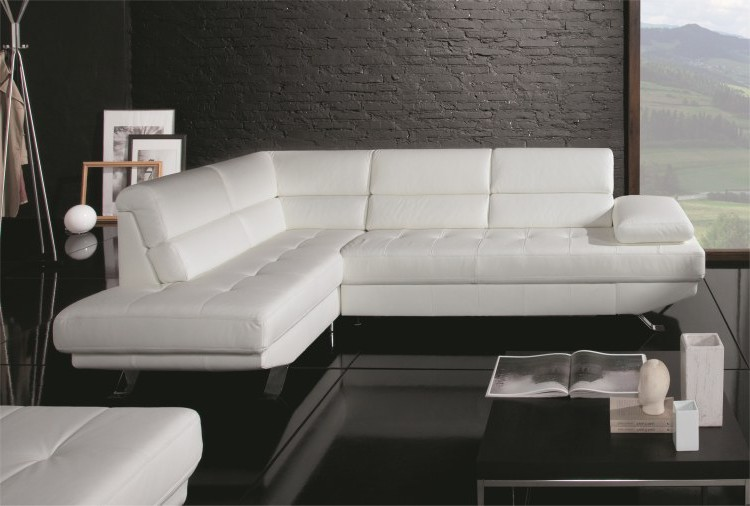 Canapé D'angle Convertible Cuir Design