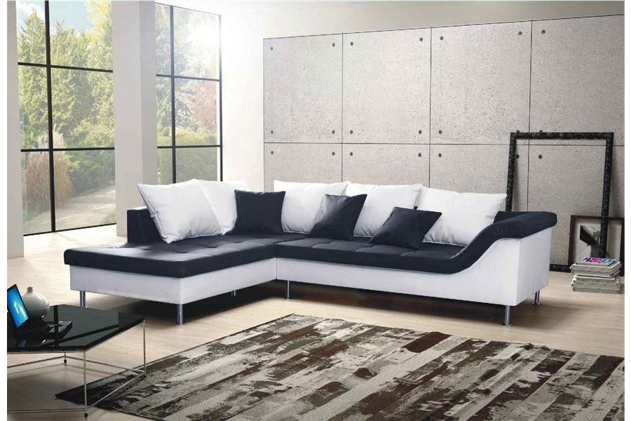 Canapé D'angle Convertible Neto Design Cuir