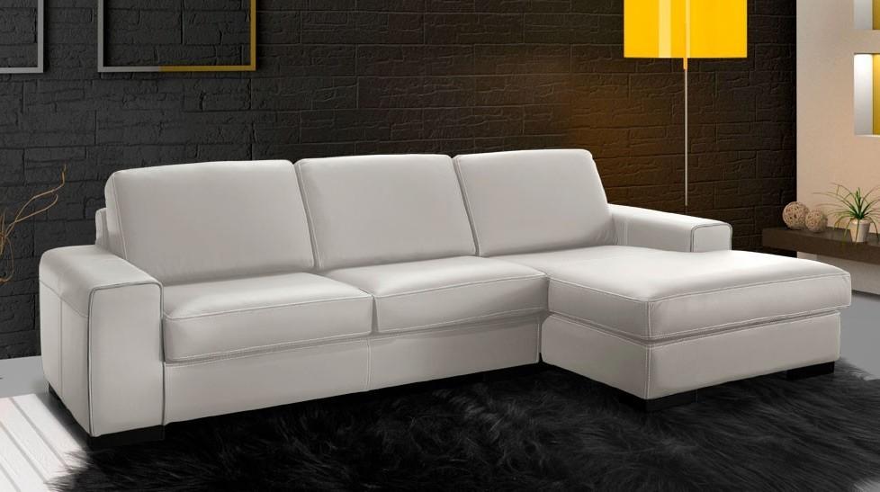 Canapé D'angle Cuir Blanc Conforama