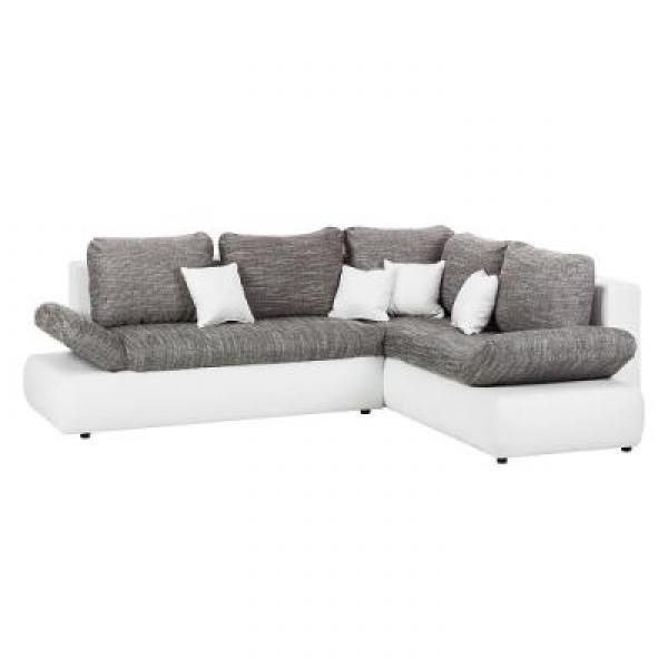 Canape D Angle Gris Et Blanc Conforama
