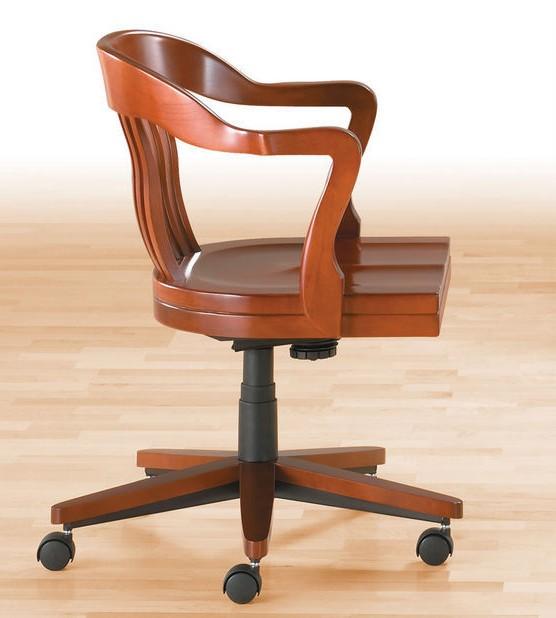 Chaise De Bureau En Bois Pivotant