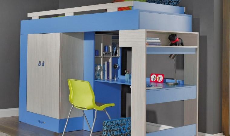 Combine lit mezzanine armoire bureau armoire id es de for Bureau 2 places