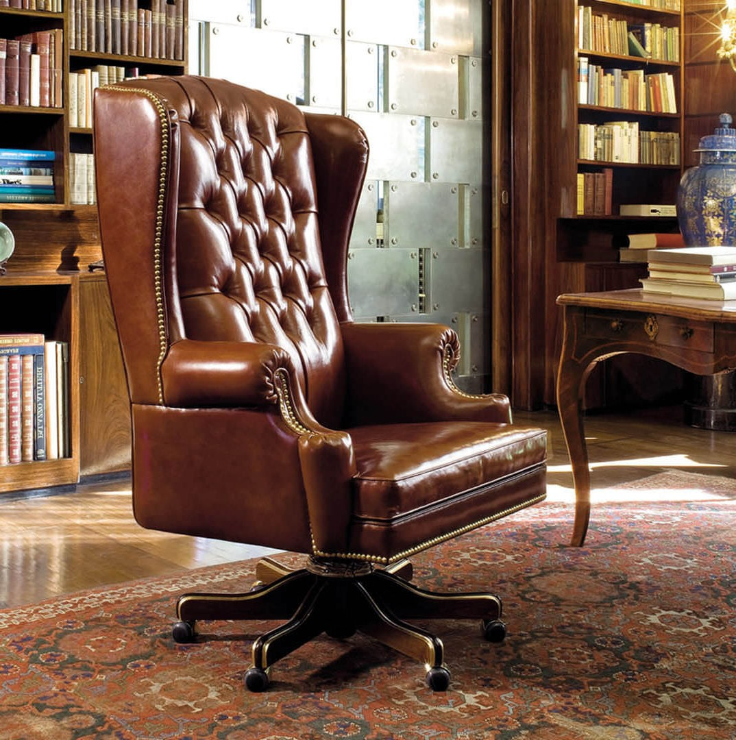 fauteuil de bureau anglais en cuir bureau id es de. Black Bedroom Furniture Sets. Home Design Ideas