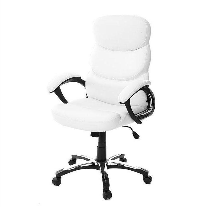 Fauteuil De Bureau Design Cuir Blanc