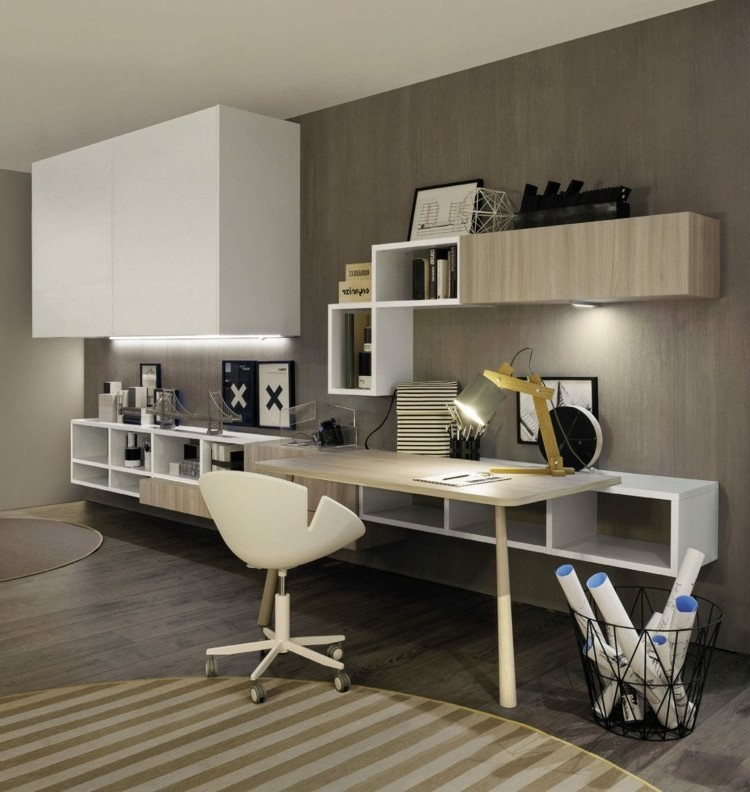 id e am nagement bureau dans salon bureau id es de. Black Bedroom Furniture Sets. Home Design Ideas