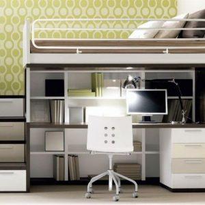 Lit mezzanine avec bureau ado bureau id es de for Bureau 2 places