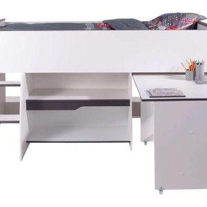 Lit mezzanine 2 places avec bureau ikea bureau id es - Lit mezzanine conforama 2 places bois ...