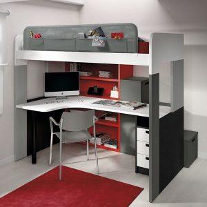 Lit mezzanine 2 places avec bureau ikea bureau id es for Lit mezzanine avec bureau integre