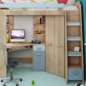 lit mezzanine avec bureau et armoire lit mezzanine avec. Black Bedroom Furniture Sets. Home Design Ideas