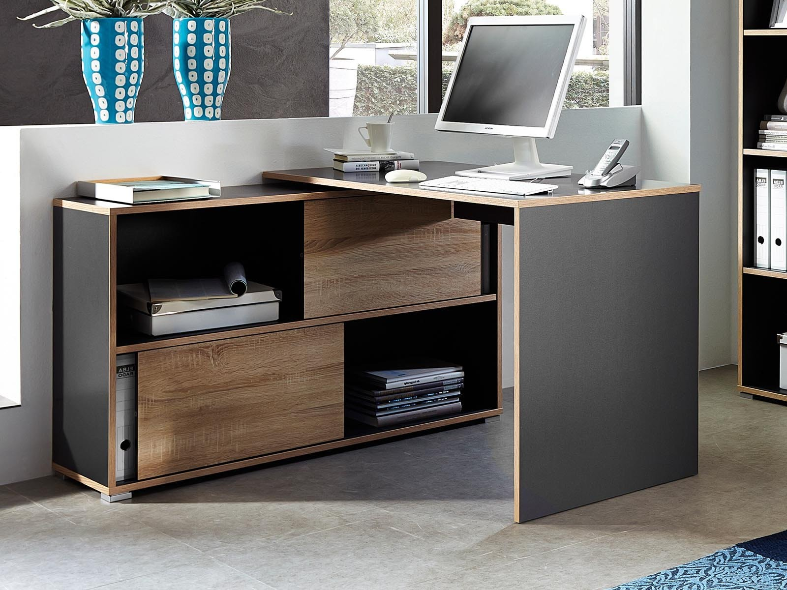 meuble bureau d 39 angle ferm bureau id es de d coration. Black Bedroom Furniture Sets. Home Design Ideas