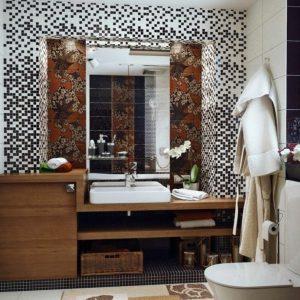 Meuble salle de bain bois ikea armoire id es de for Salle de bain bois brut