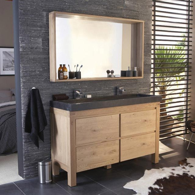 meuble salle de bain bois clair armoire id es de. Black Bedroom Furniture Sets. Home Design Ideas