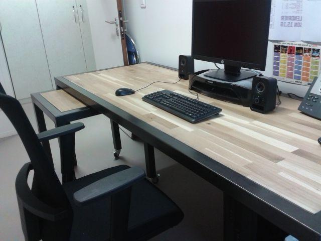 Extrêmement Plateau Bureau Sur Mesure Ikea - Bureau : Idées de Décoration de  MS53