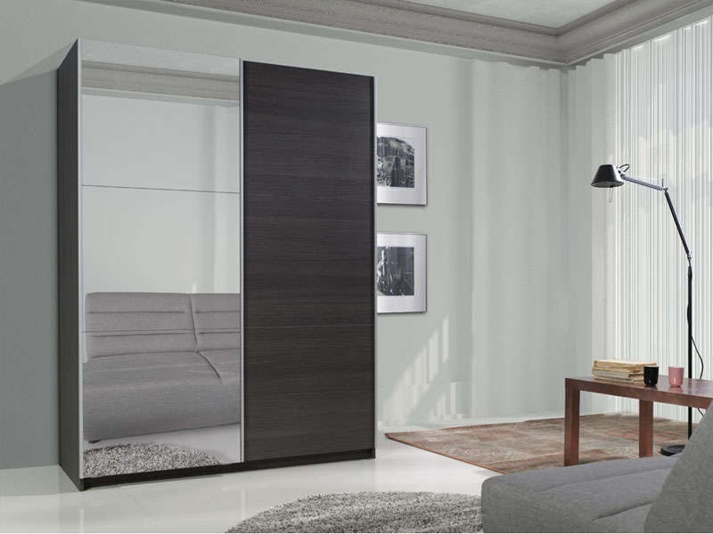 Finest armoire portes miroir with armoire 3 portes conforama for Armoire a glace conforama