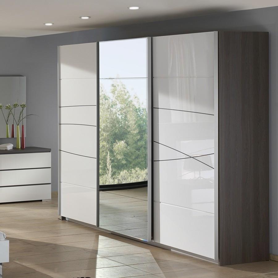 Armoire Blanc Portes Coulissantes Miroir