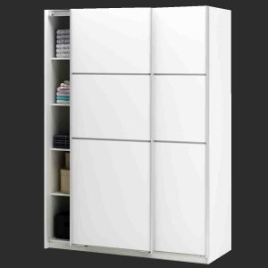 Armoire Blanche Laquee Portes Coulissantes