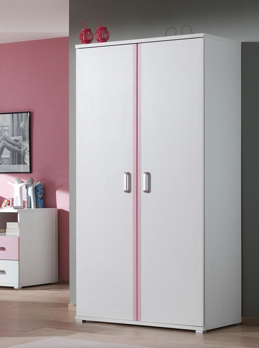 Armoire blanche pour chambre armoire id es de for Armoire bureau blanche