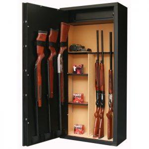 Meuble pour fusil de chasse en bois armoire id es de for Decoration maison chasse