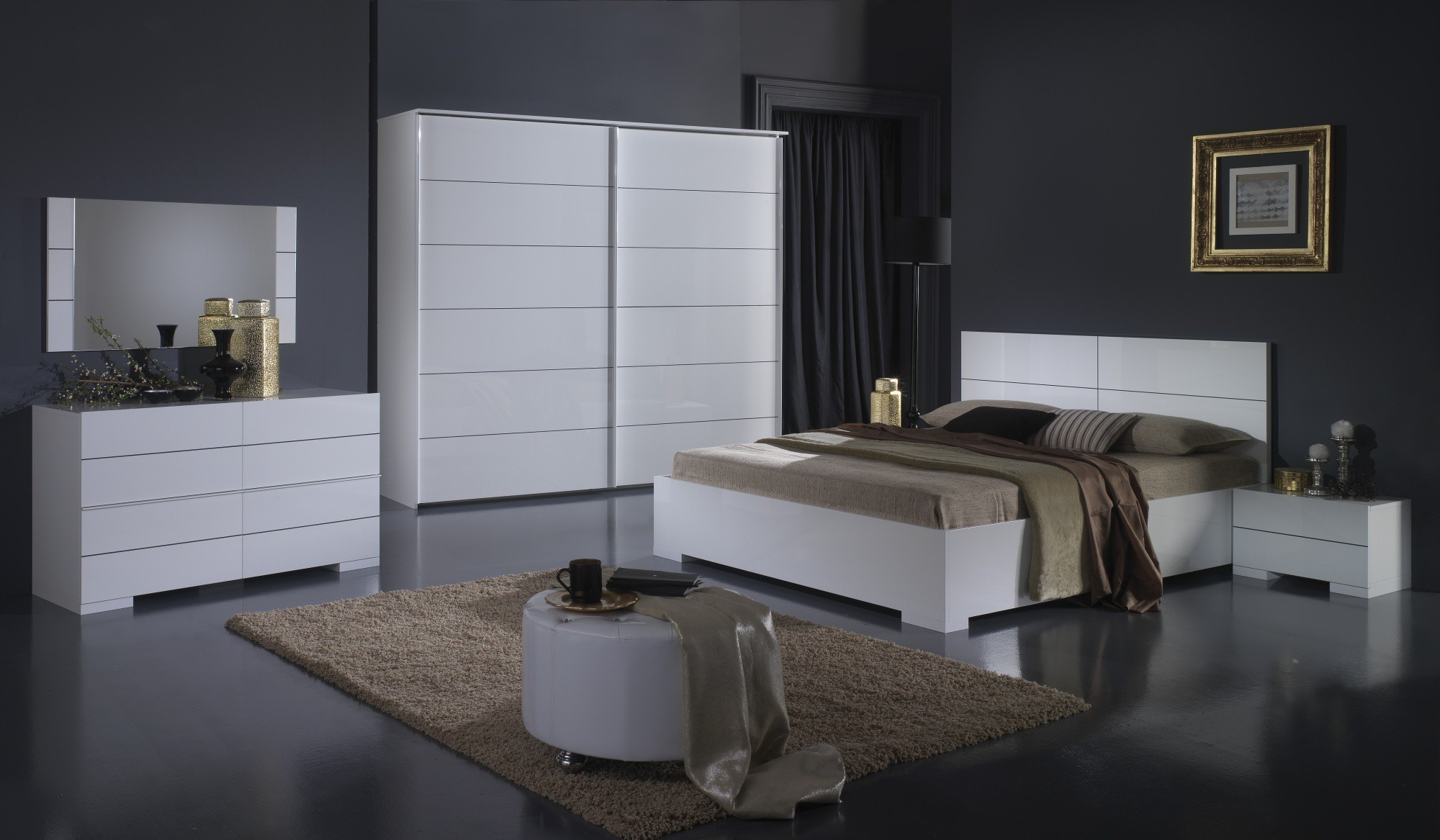 Armoire chambre design wardrobe wooden with sliding door stripe by enrico cesana olivieri for Armoire chambre adulte but