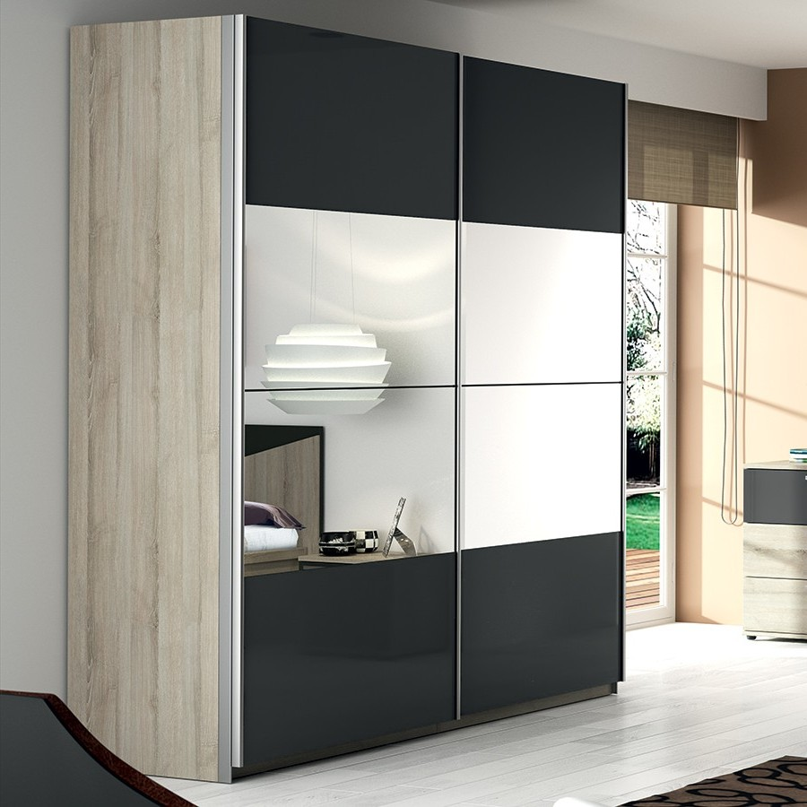 armoire chambre porte coulissante avec miroir armoire. Black Bedroom Furniture Sets. Home Design Ideas