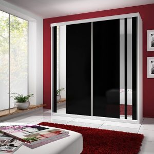 armoire blanche porte coulissante avec miroir armoire. Black Bedroom Furniture Sets. Home Design Ideas