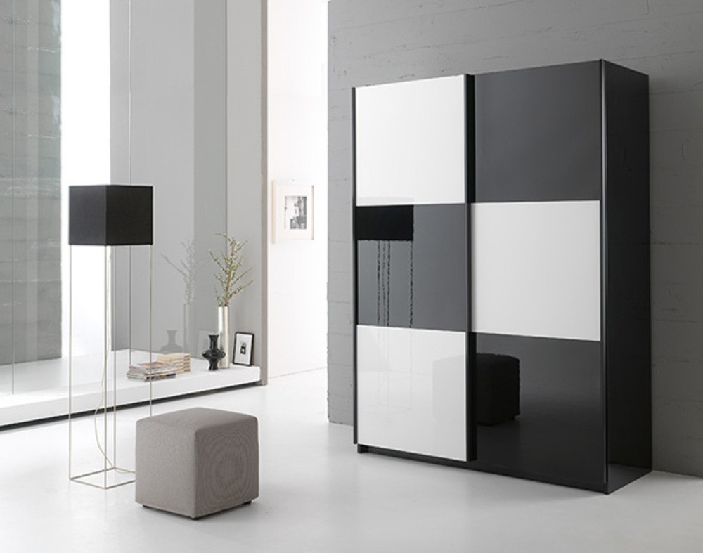 Armoire D'angle Blanche Laquée