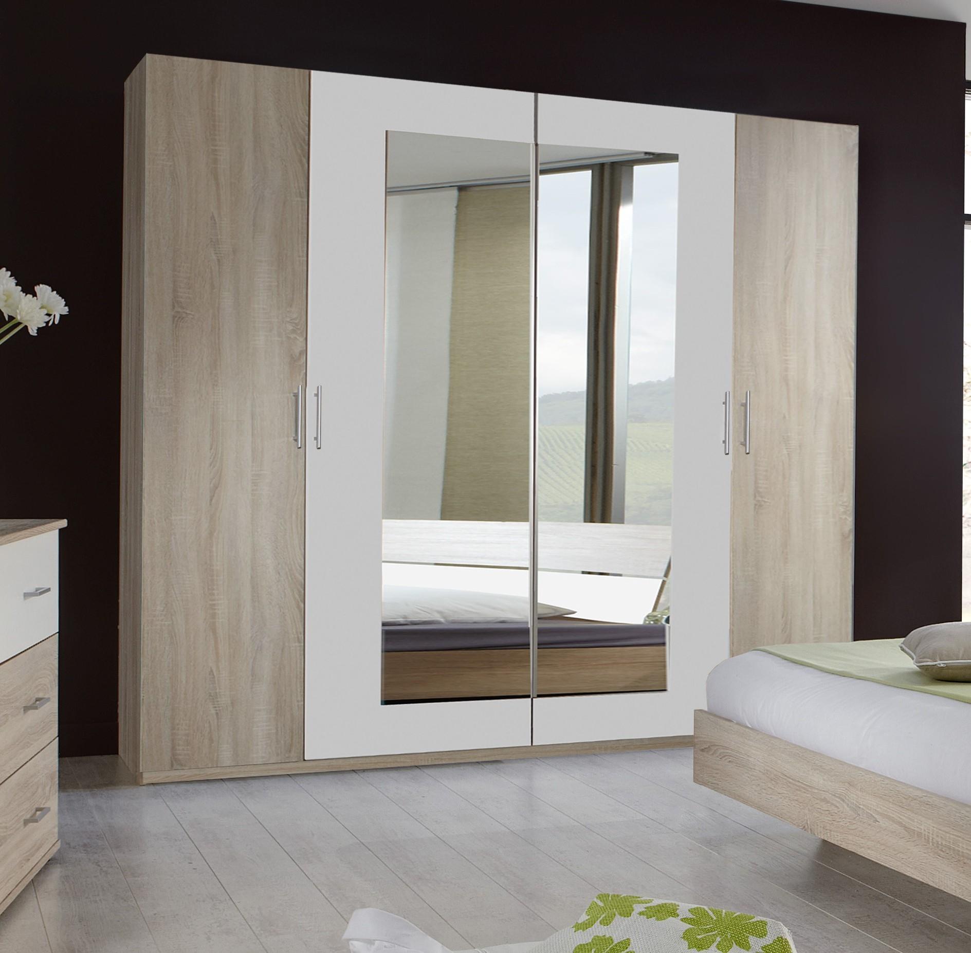 Armoire De Chambre Blanche Avec Miroir