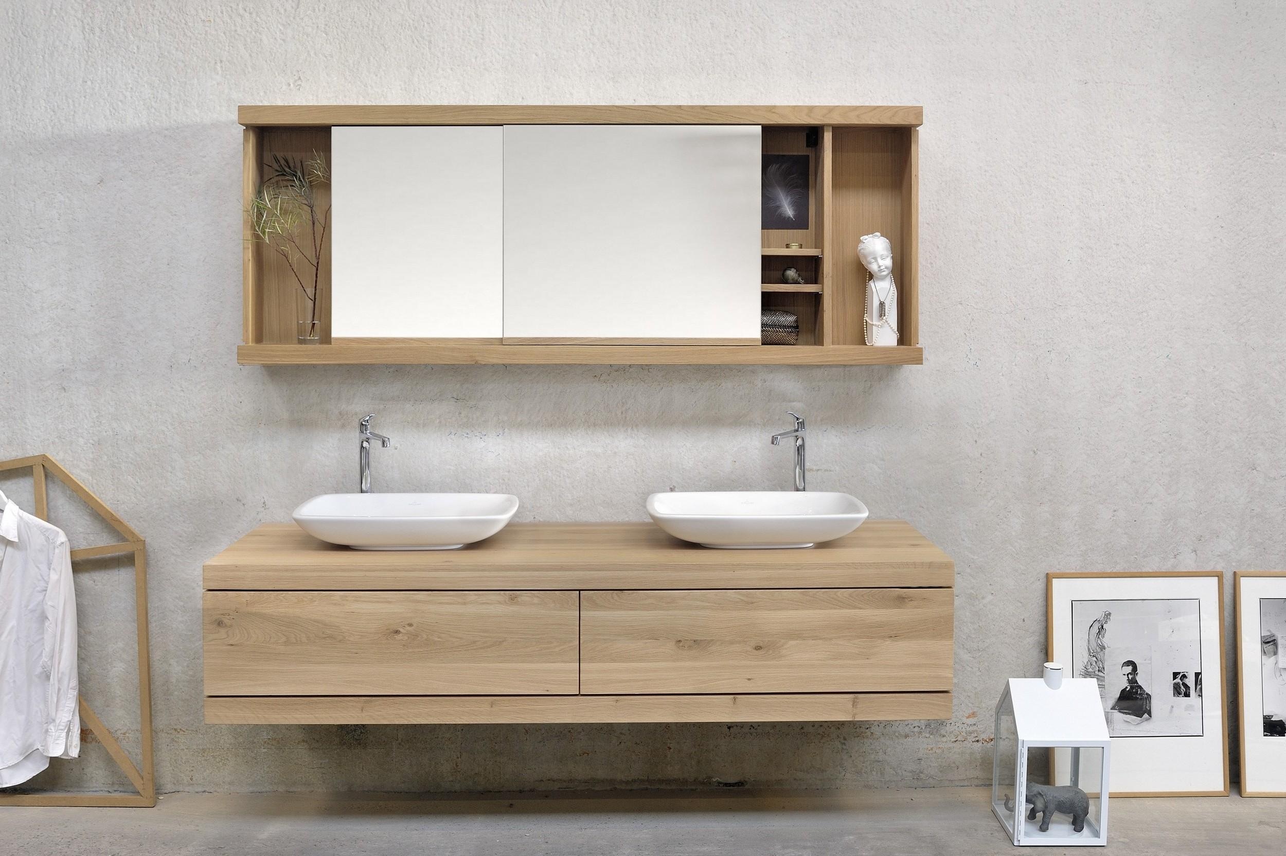 Armoire de rangement salle de bain en bois armoire for Armoire salle de bain bois