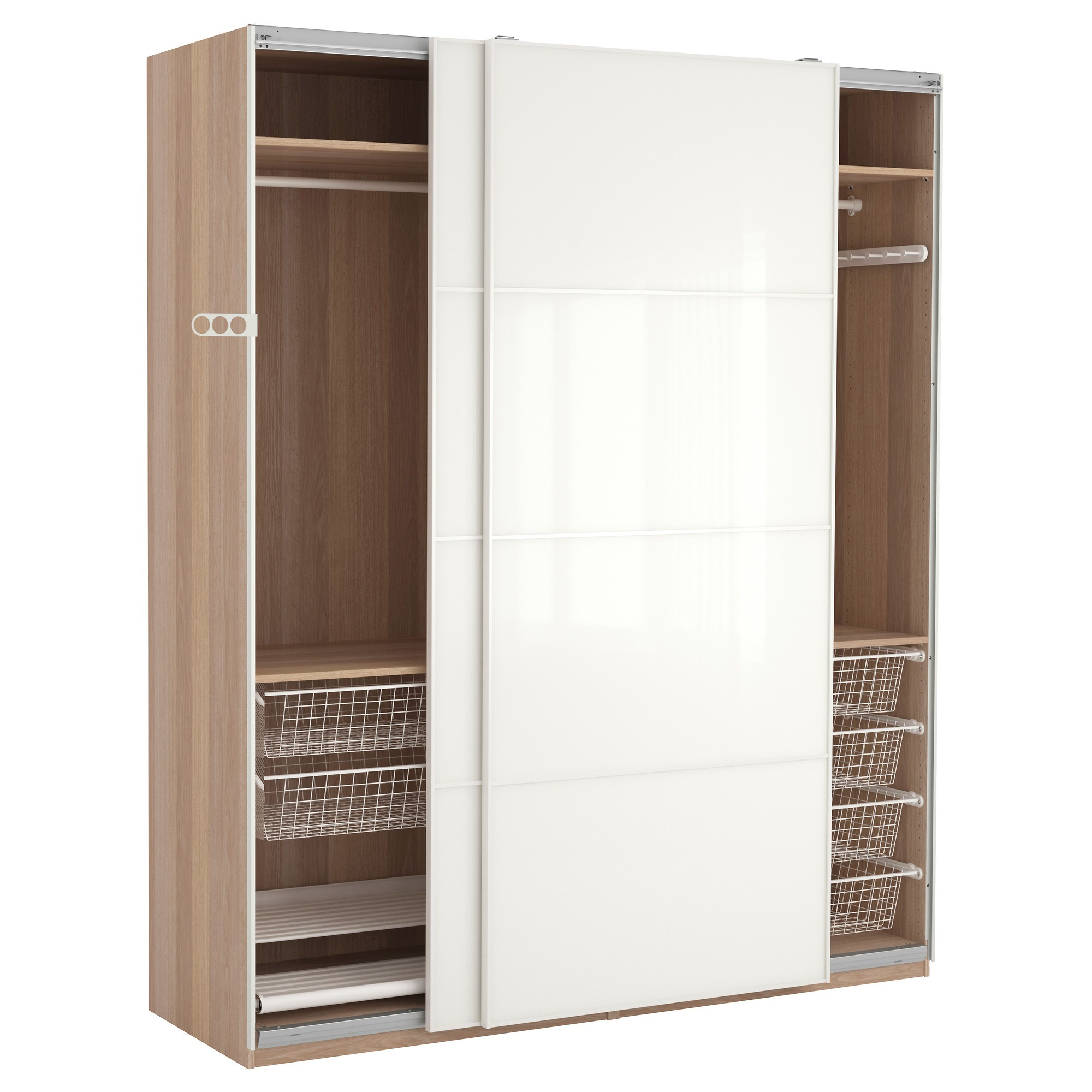 ikea dressing d angle excellent white ikea pax wardrobe featuring sliding doors and hanging. Black Bedroom Furniture Sets. Home Design Ideas