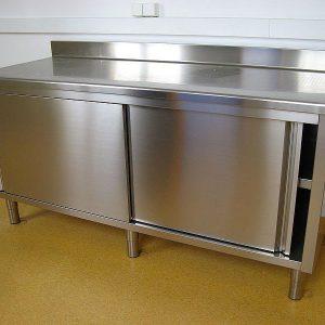 Armoire de rangement cuisine meuble desserte roulettes for Armoire de rangement castorama