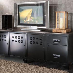 Armoire metallique meuble tv armoire id es de for Meuble tv armoire