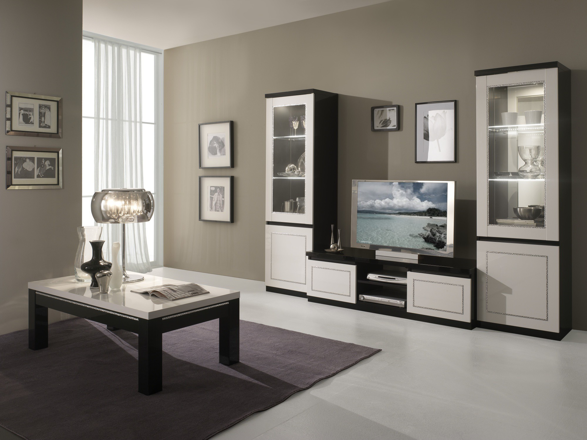 Stunning armoire salon moderne images for Armoire salon design