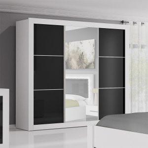 Armoire penderie noire amelia armoire id es de for Decoration porte noire
