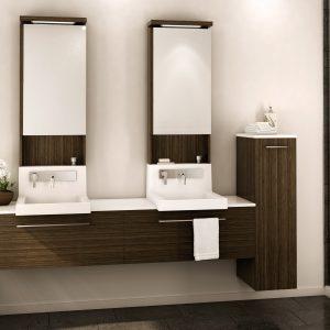 Cr dence pour salle de bain salle de bain id es de for Armoire pour salle de bain