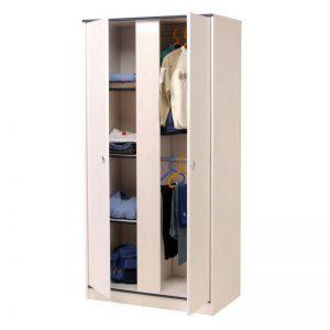 Armoire Pin Blanc 2 Portes