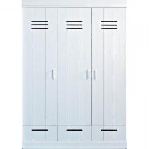 Armoire Pin Blanc 3 Portes