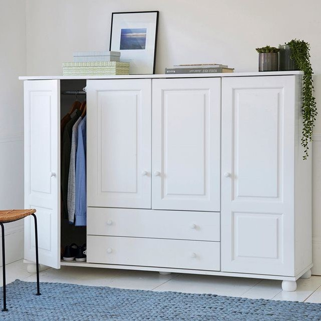 Armoire Pin Massif Penderie Lingère Harold