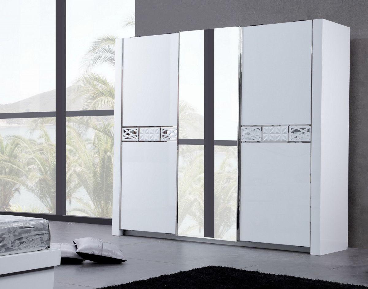 Latest armoire blanc porte coulissante ikea armoire ides for Meuble penderie porte coulissante